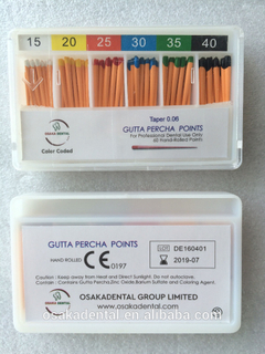 Osakadental Gutta Percha Points 06 cónico / material dental / material de ortodoncia